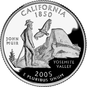 2005-D American 25-Cent State Quarter Series: California Brilliant Uncirculated Coin