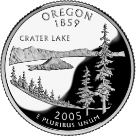 2005-D American 25-Cent State Quarter Series: Oregon Brilliant Uncirculated Coin