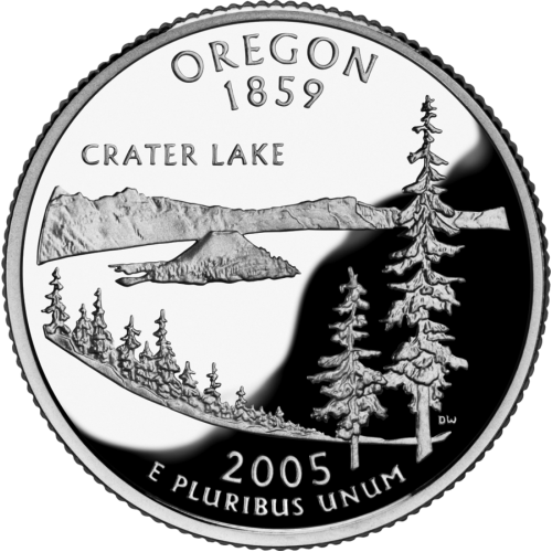 2005-P American 25-Cent State Quarter Series: Oregon Brilliant Uncirculated Coin