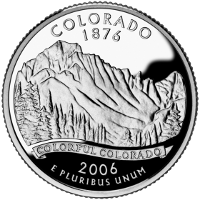 2006-P American 25-Cent State Quarter Series: Colorado Brilliant Uncirculated Coin