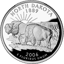 2006-P American 25-Cent State Quarter Series: North Dakota Brilliant Uncirculated Coin