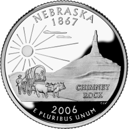 2006-P American 25-Cent State Quarter Series: Nebraska Brilliant Uncirculated Coin