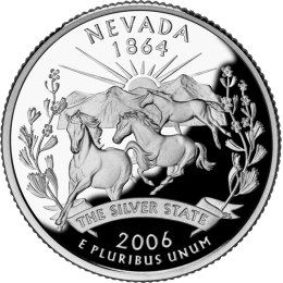 2006-D American 25-Cent State Quarter Series: Nevada Brilliant Uncirculated Coin