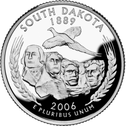 2006-P American 25-Cent State Quarter Series: South Dakota Brilliant Uncirculated Coin