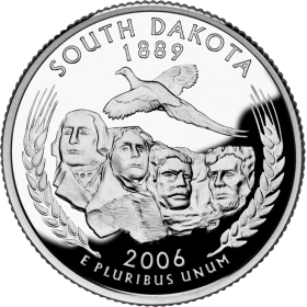 2006-D American 25-Cent State Quarter Series: South Dakota Brilliant Uncirculated Coin