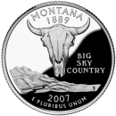 2007-P American 25-Cent State Quarter Series: Montana Brilliant Uncirculated Coin