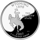 2007-P American 25-Cent State Quarter Series: Wyoming Brilliant Uncirculated Coin