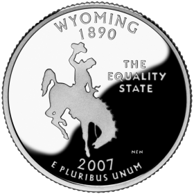 2007-D American 25-Cent State Quarter Series: Wyoming Brilliant Uncirculated Coin