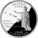 2008-D American 25-Cent State Quarter Series: Hawaii Brilliant Uncirculated Coin