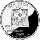 2008-P American 25-Cent State Quarter Series: New Mexico Brilliant Uncirculated Coin