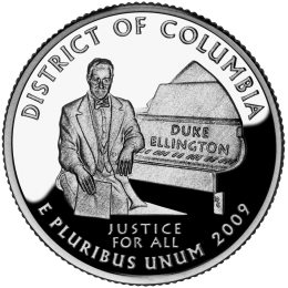 2009-P American 25-Cent State Quarter Series: District of Columbia Brilliant Uncirculated Coin
