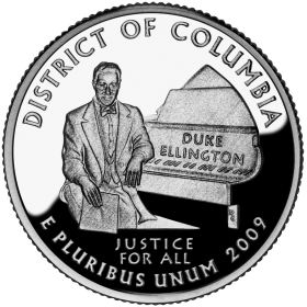 2009-D American 25-Cent State Quarter Series: District of Columbia Brilliant Uncirculated Coin