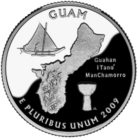 2009-D American 25-Cent State Quarter Series: Guam Territory Brilliant Uncirculated Coin