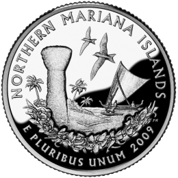 2009-P American 25-Cent State Quarter Series: Northern Mariana Islands Territory Brilliant Uncirculated Coin